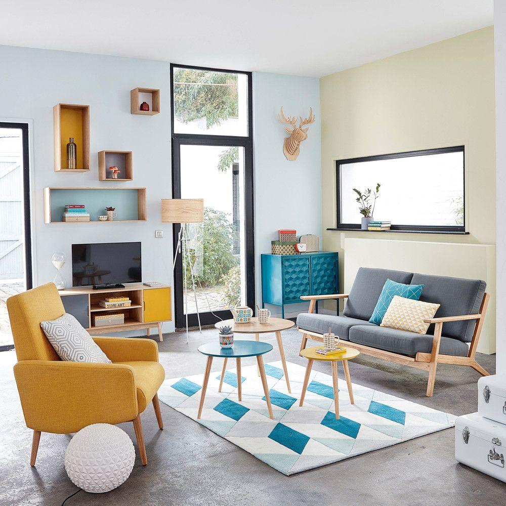 Mesas apilables vintage tricolores interiorismo muebles decoracion de muebles y decoraci n - Muebles decoracion vintage ...