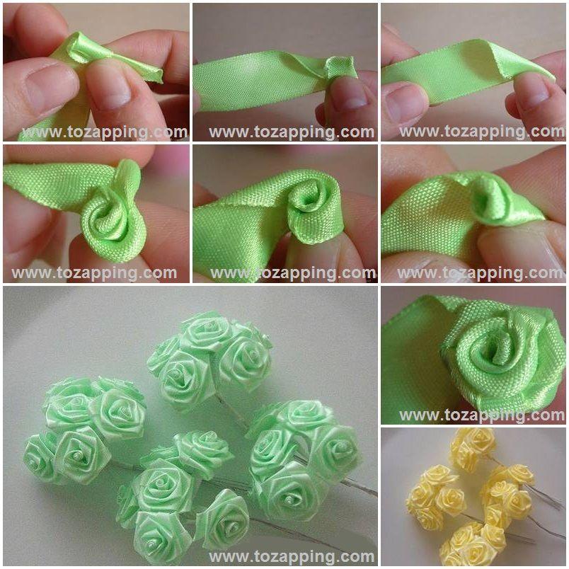 Cómo hacer rosas de tela - Tozapping.com | Pinterest | Rosas de tela ...