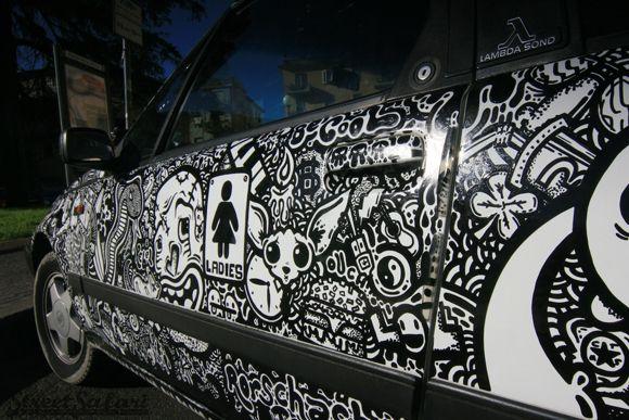 The Rorschach Sharpie Art Car Street Safari Art