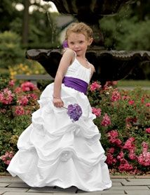 Flower girl white dress with purple sash wedding ideas pinterest flower girl white dress with purple sash mightylinksfo Choice Image