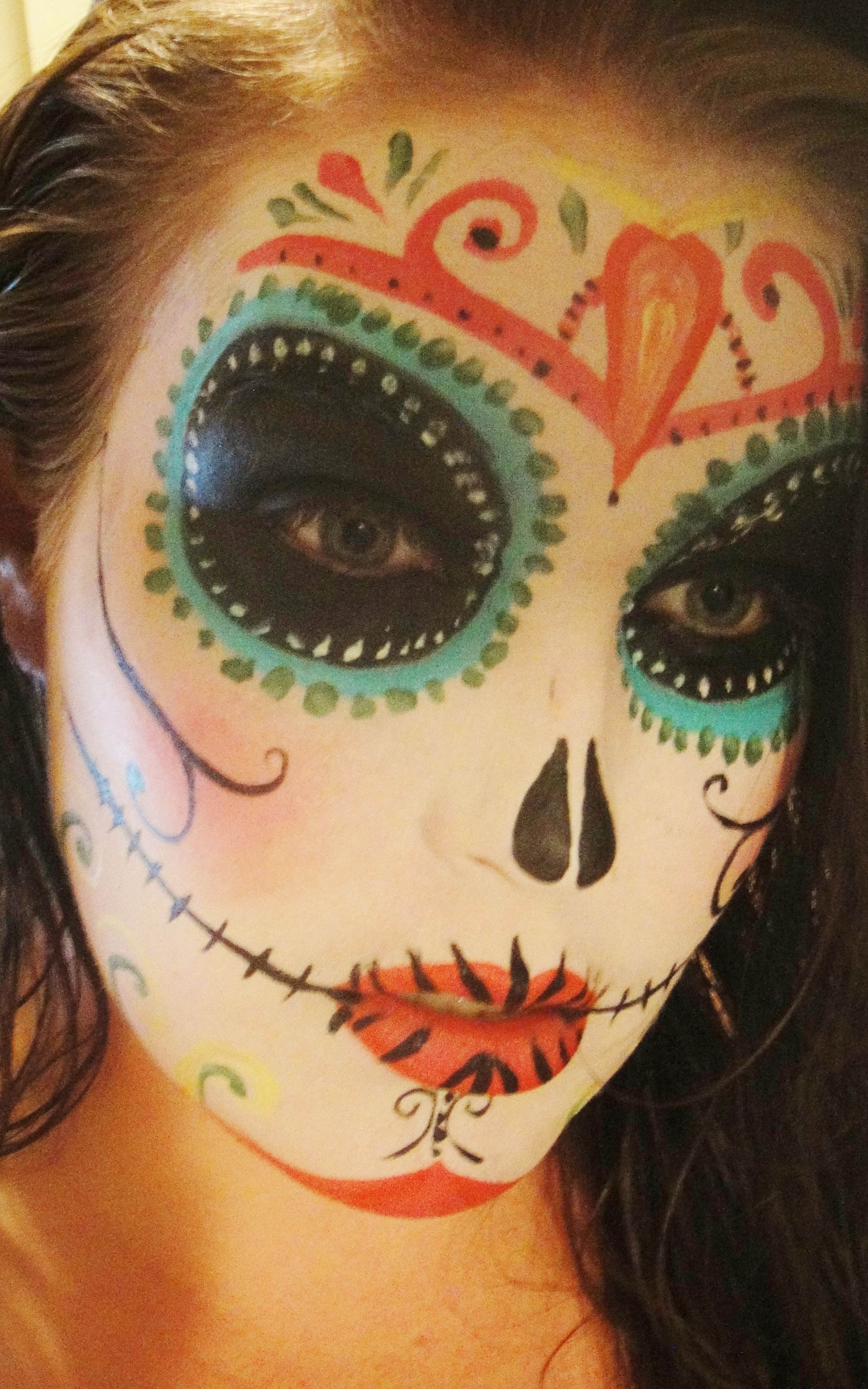 sugar skull Day of the dead Halloween cool creepy mysterious