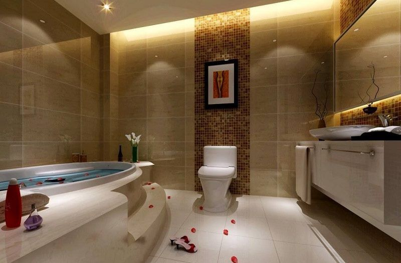 Giant Interior Design For Bath Room Decoration In Modern Interior
