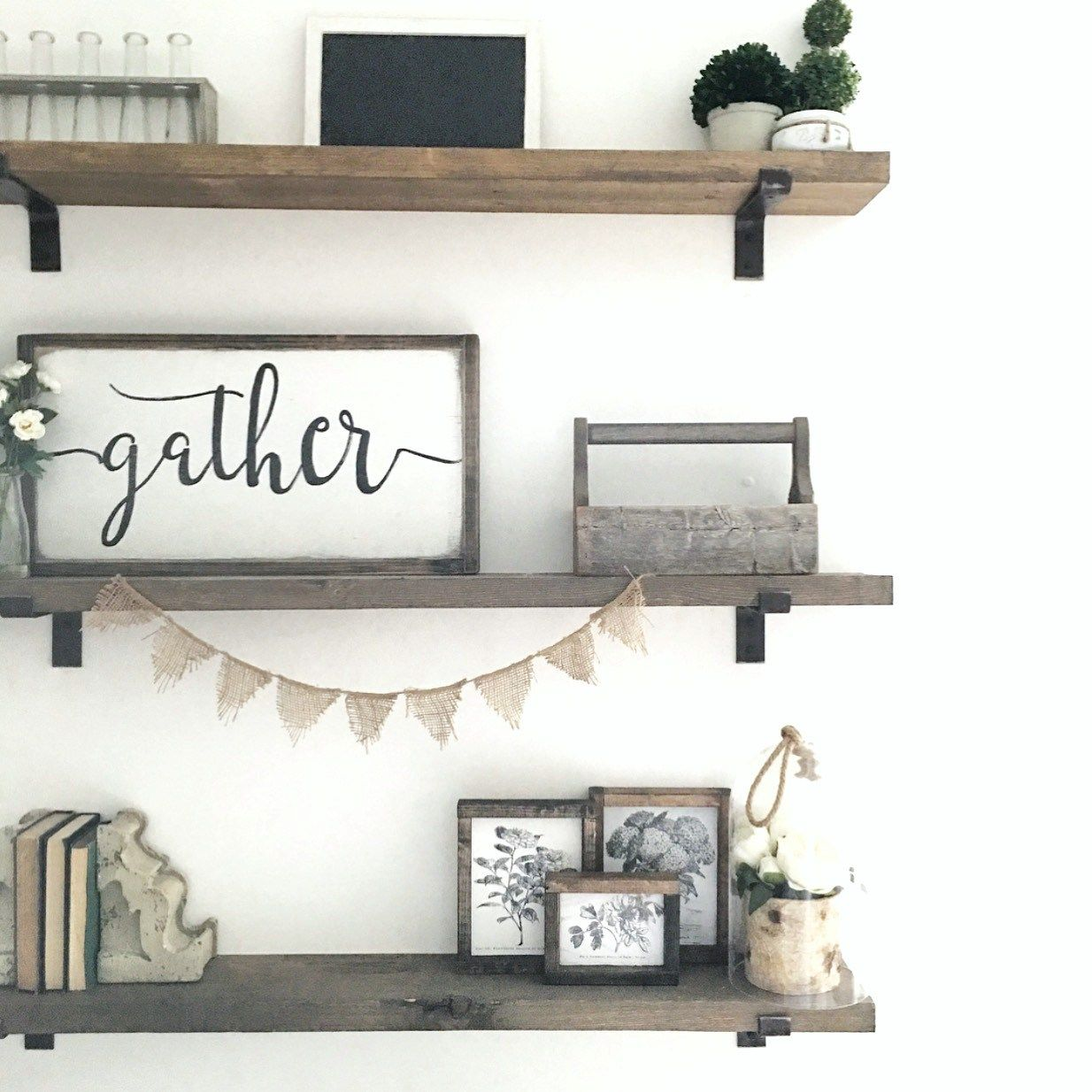 Open Shelving Is Perfect For Decorating Shelves In Bedroom Shelves Dining Room Walls
