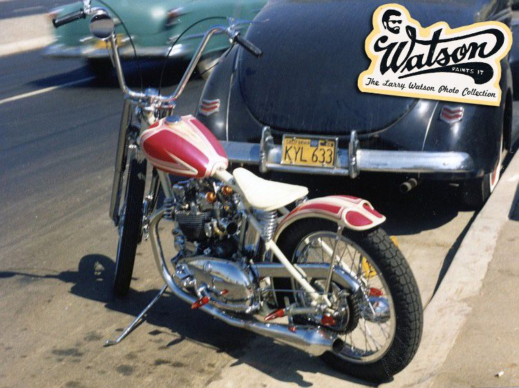 Have not found a thread about 60s style kustom motorbikes