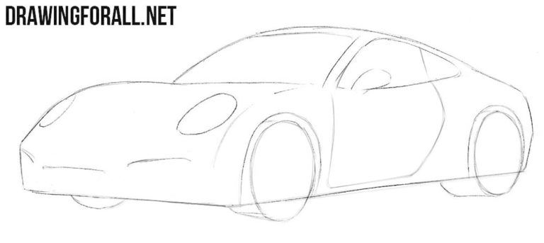 How To Draw A Porsche Easy Drawings Easy Drawings Super Cars