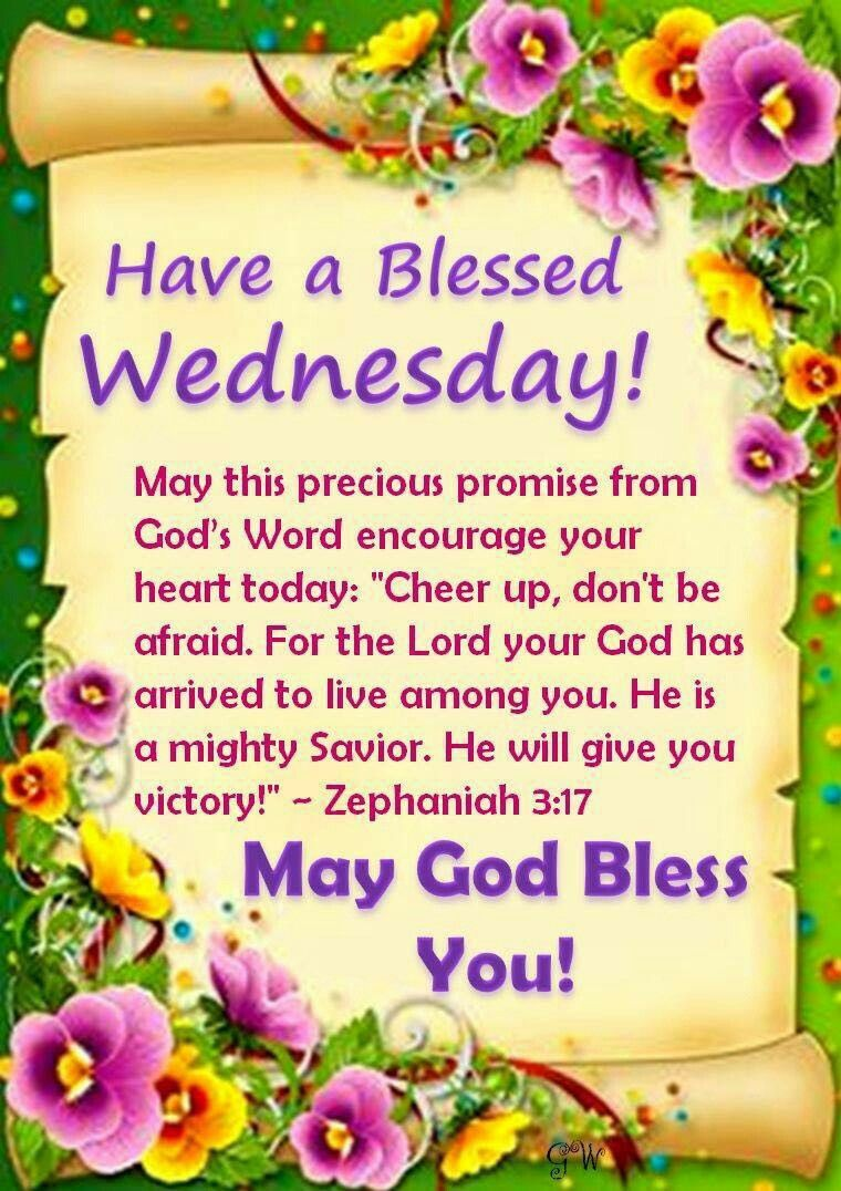 Have A Blessed Wednesday Week Days Wishes Pinterest Blessings