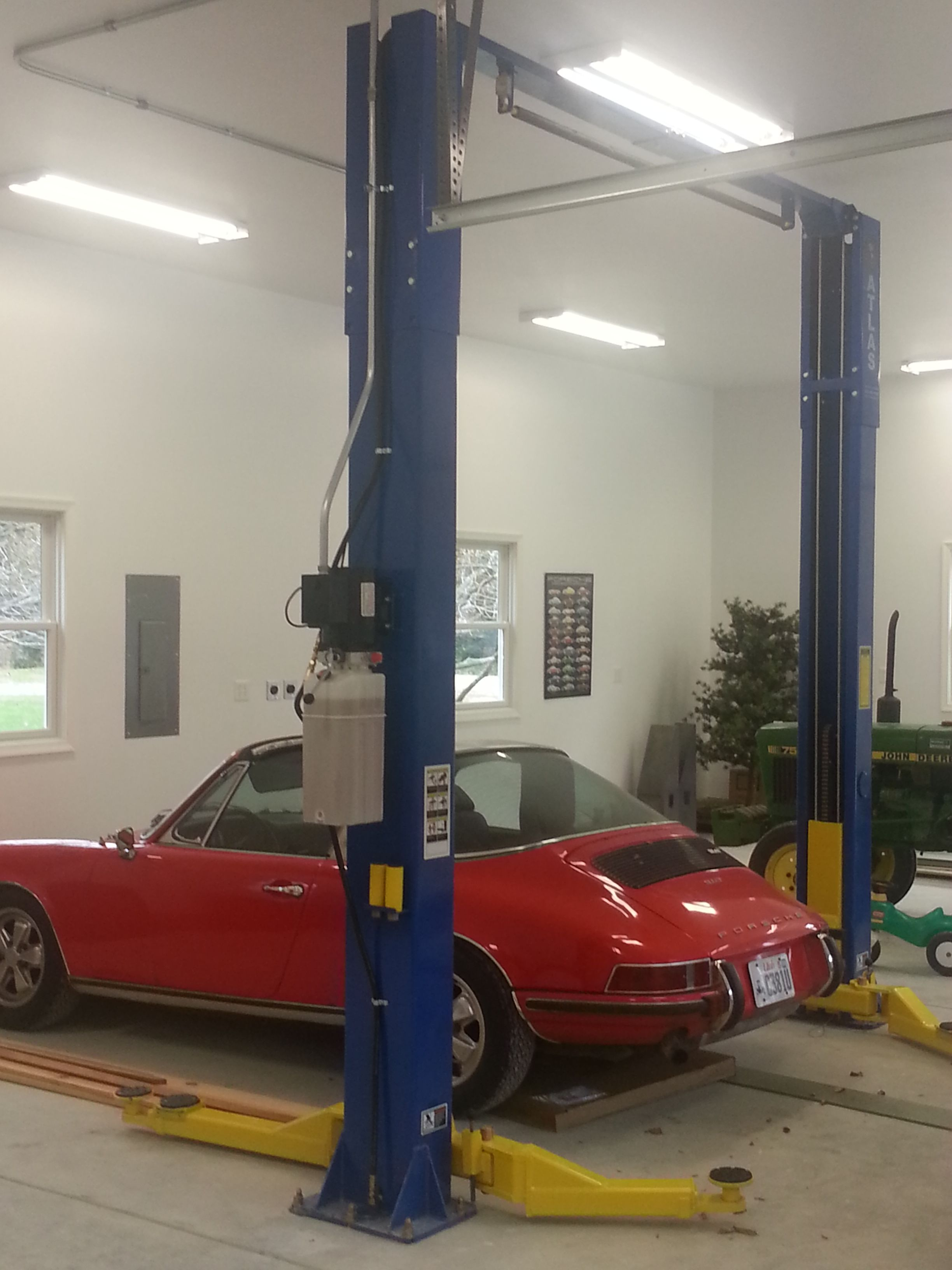 auto lift in new 3 car garage