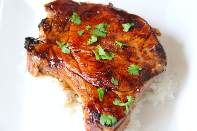 Food and the City | a food + fashion + lifestyle blog: grilled soy + honey pork chops.