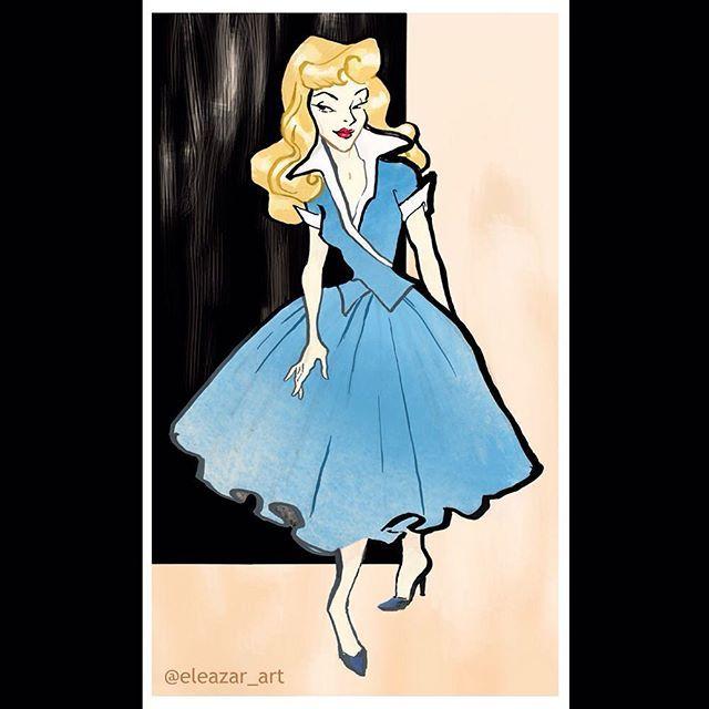 @eleazar_art I love Rene Gruau and Princess Aurora. Why not combine them. This…