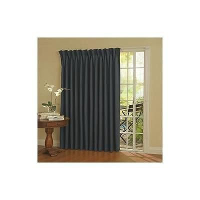 Blackout Wide Sliding Door Curtains Privacy Room Divider Curtain