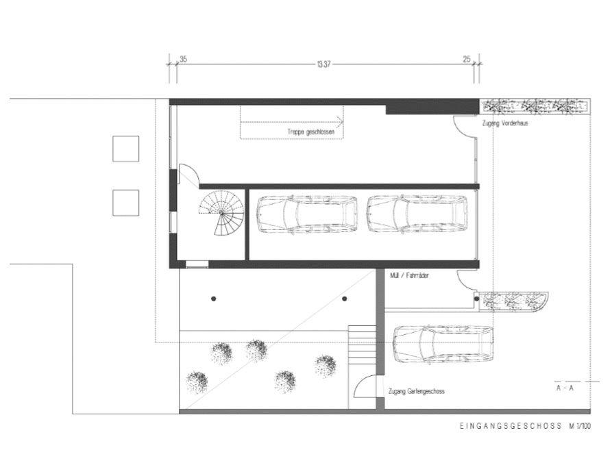 Brunner Architekten atrium house in munich by harlaching max brunner architekt plan 01