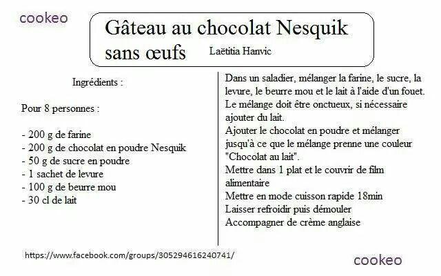 Gateau au chocolat en poudre cuisson rapide