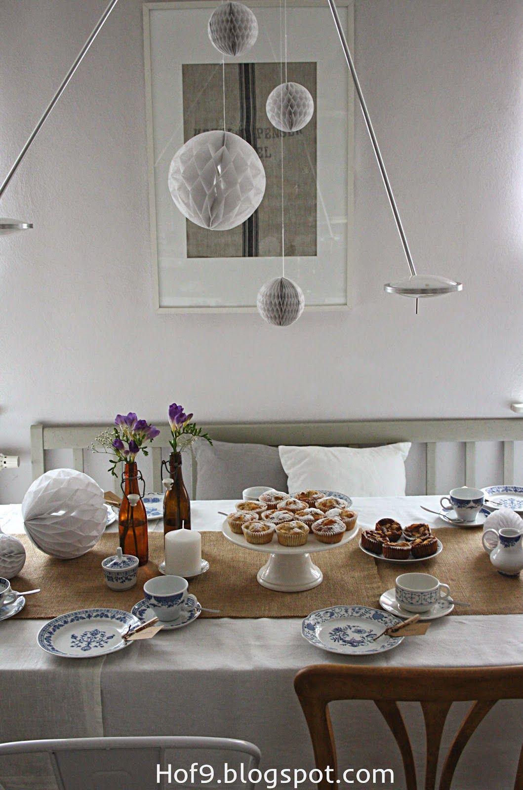 Tischdekoration In Blau Vintage Tischdeko Tischdeko Blau Blaues