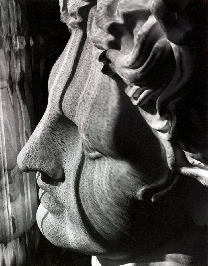 Carlotta M. Corpron,  Light Follows Form of Greek Head, ca 1946. S)