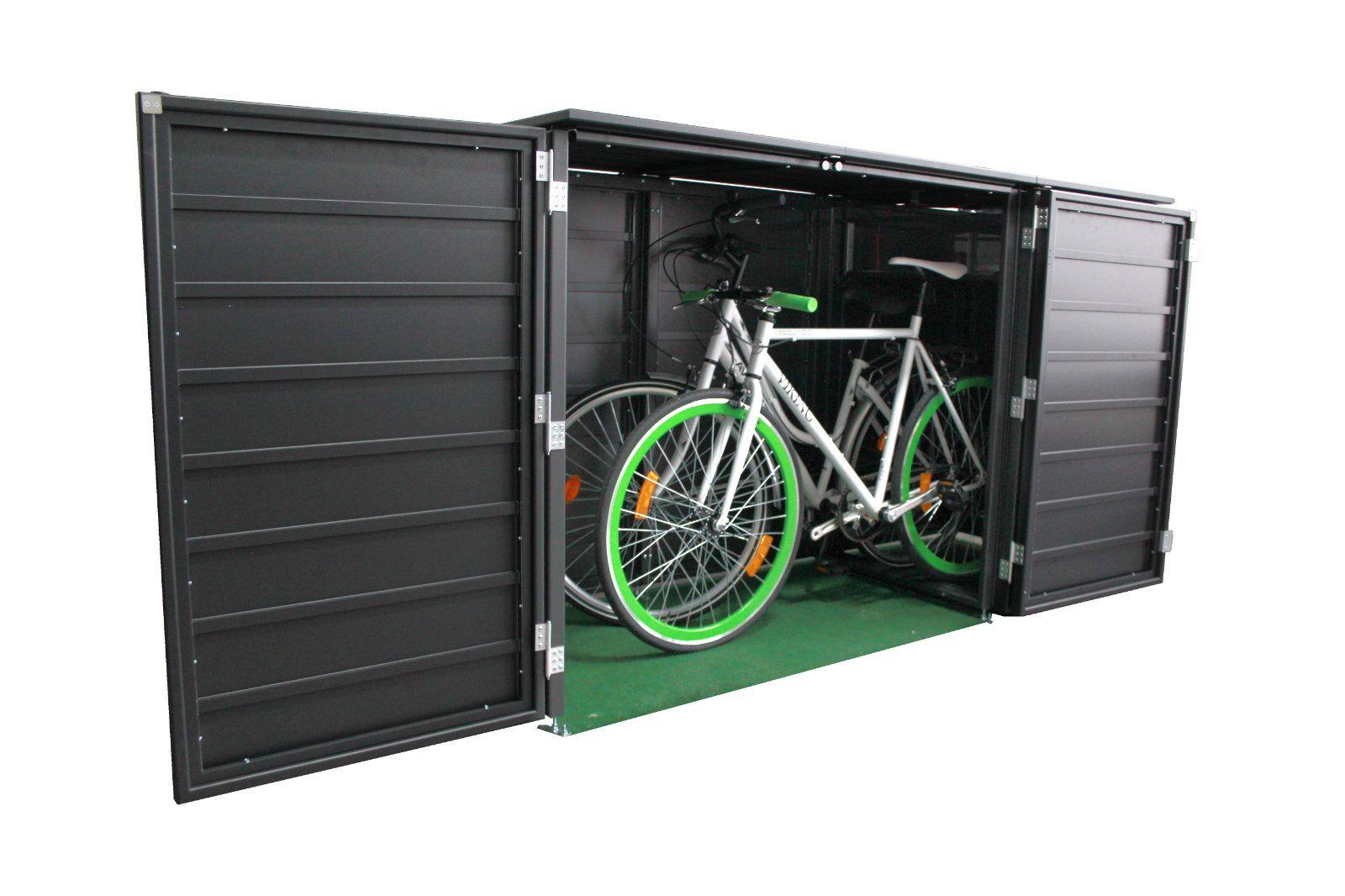 Fahrradbox Aluminium Fahrradgarage Aus Metall Fahrradschutz