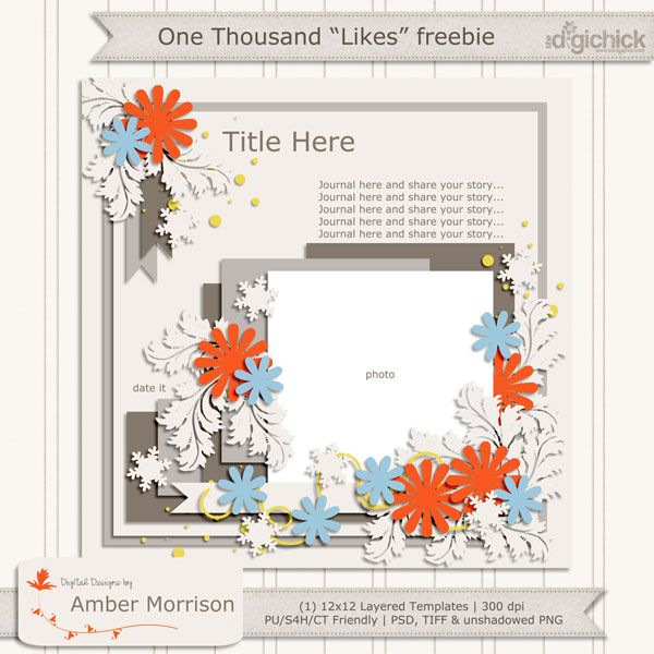Template freebie from Digital Designs By Amber Morrison