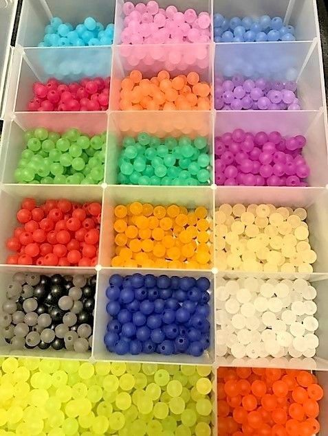 ASST 200 CT PACK  8 MM BEADS GREAT FOR SALMON, STEELHEAD, TROUT #BEADS