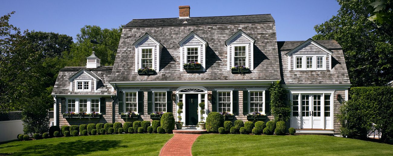 Patrick ahearn architect classic new england style home for Custom colonial homes
