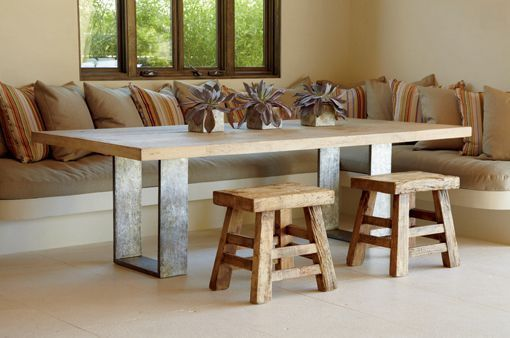 Si te gustan las mesas de madera maciza para poner en el comedor, he ...