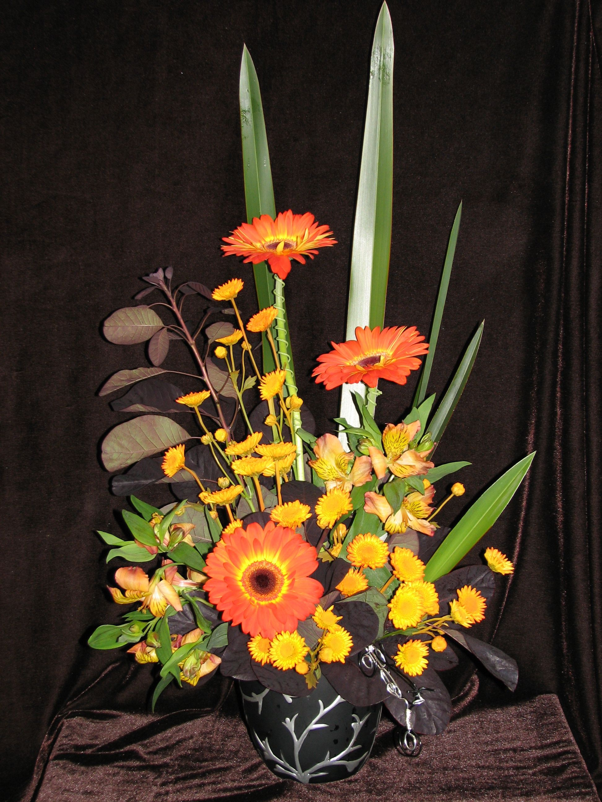 Harley Davidson Inspired Arrangement Floral Arrangements