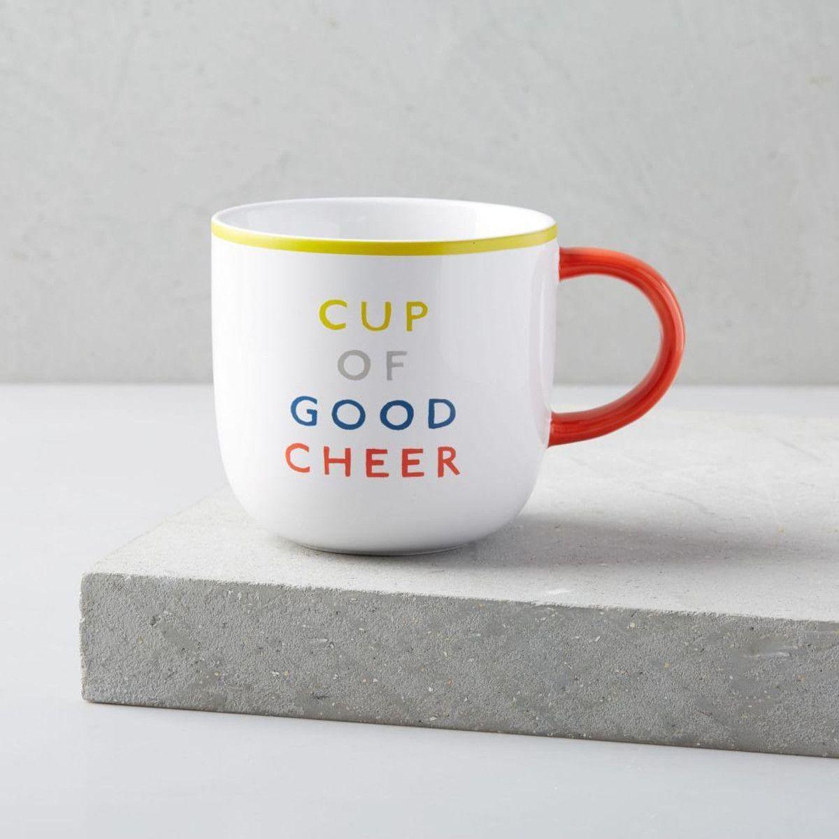 Round Words Mug, A Cup of Good Cheer Mugs, Good cheer