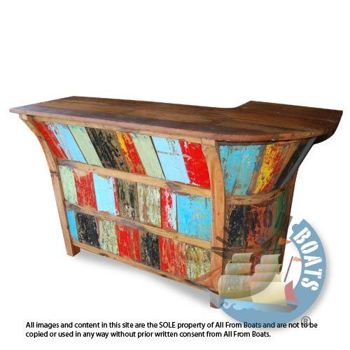 AGUS BAR Recycled Boatwood Bar Furniture All From Boats Agus Recycled  Boatwood Bar. A Sizable Boat Furniture Bar With Your Choice Of Left Or  Right Hand ...
