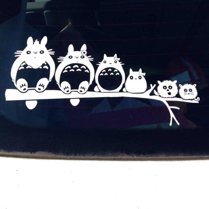 Custom Totoro Stick Family Car Vinyl Decal I Made Using My - Custom vinyl decals edmonton