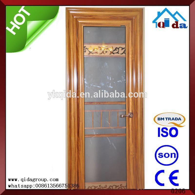 Aluminum Glass Commerical Sliding Building Door Mosquito Net Door