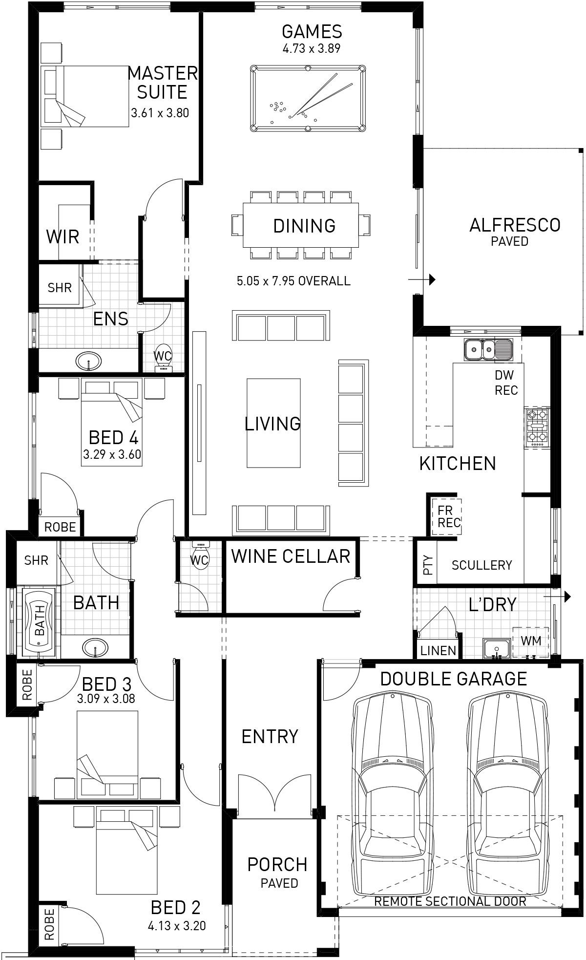 The Fusion | Four Bed Two Storey Narrow Home Design | Plunkett Homes ...