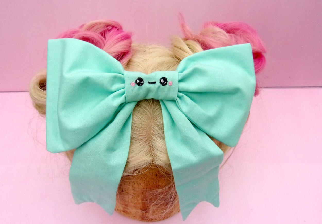 "Wedding Flower Girls School 3.5"" Girls Navy Blue Hair Bow Clip Long Tails Bow"