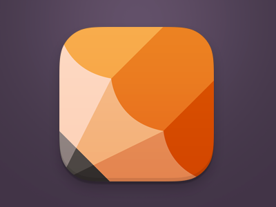 This icon caught me off-guard. At first, it appeared to me like a hot air balloon with the dark tip and the tan stripe, but seeing the sharp vertical lines, it became more obvious. Well executed.