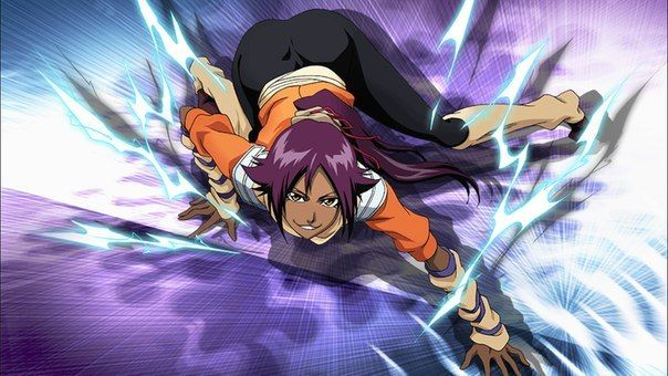 Wow! Yoruichi-san is just awesome! I love this piece. Of course she's just  a frenzy char but she's so beautiful! Oh… | Bleach anime, Bleach  characters, Bleach manga