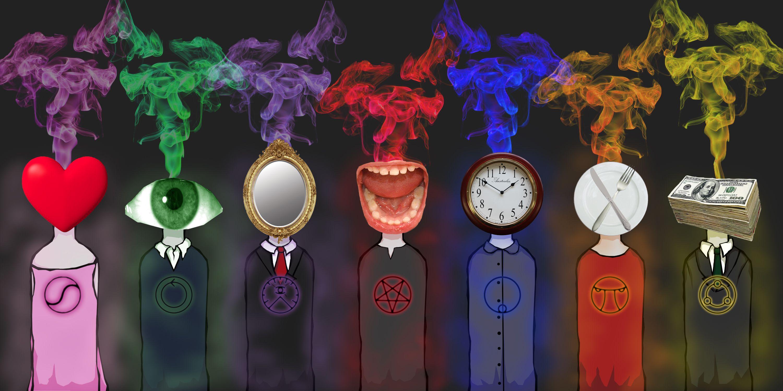 Seven Sins Symbols Google Zoeken 7 Sins And 7 Virtues Pinterest