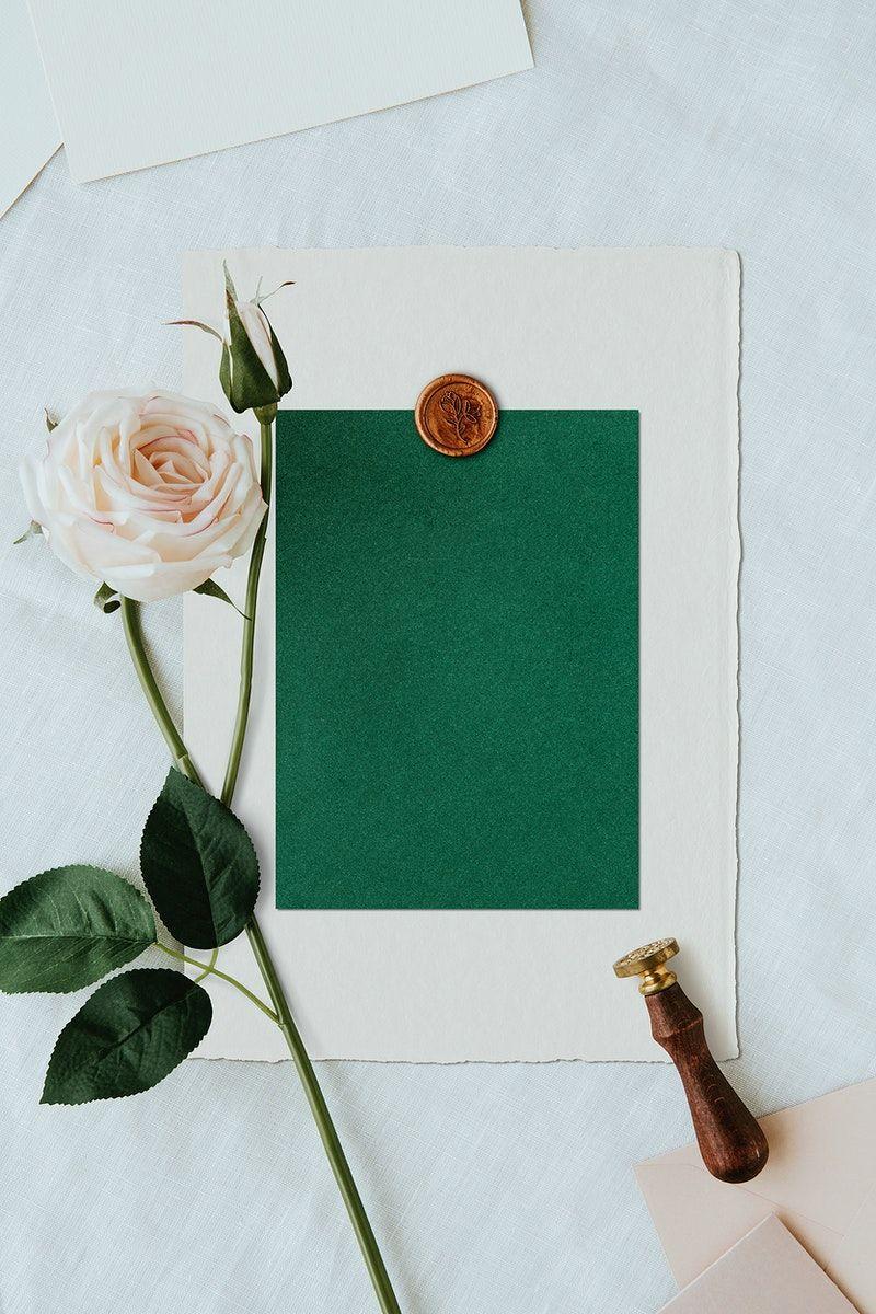 Download Premium Image Of Blank Green Card Template 2325180 In 2020 Card Template Green Cards Flower Background Wallpaper