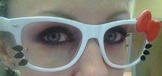 """My kids want these Hello Kitty """"nerd"""" glasses."""