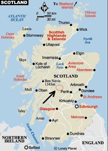 Map   Perthshire, Scotland | Scotland | Scotland, Inverness, Glasgow