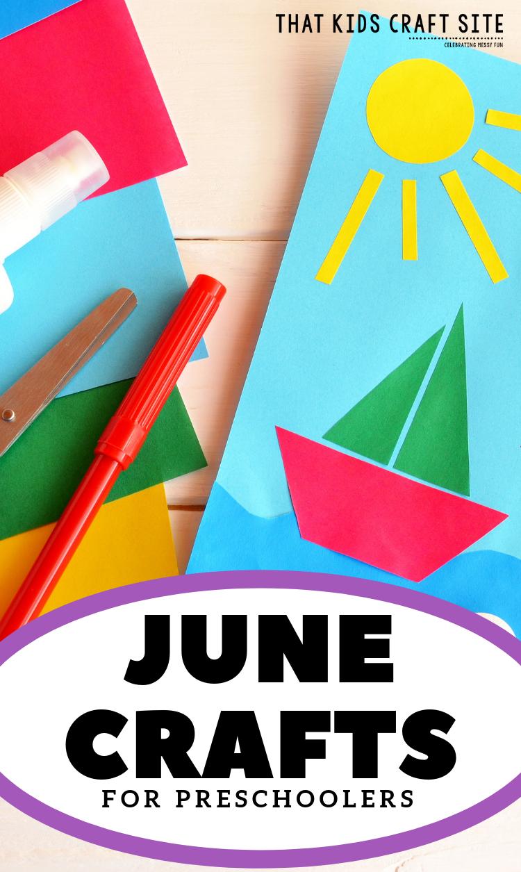 June Crafts For Preschoolers Summer Crafts For Kids Crafts For