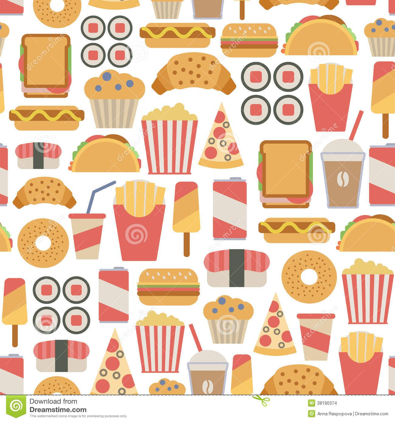 food pattern Google Search Food patterns, Food icons