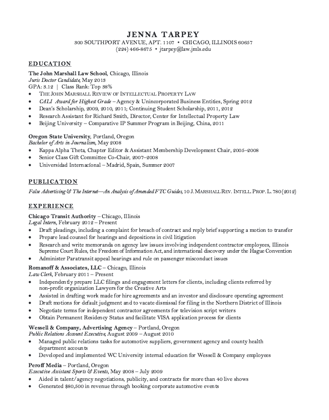 law clerk resume sample httpresumesdesigncomlaw clerk - Corporate And Contract Law Clerk Resume