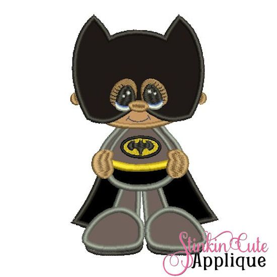 Machine Embroidery Designs Applique Little Super Hero 2 Batman