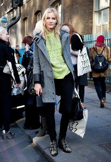 Street style at London Fashion Week autumn/winter 2012