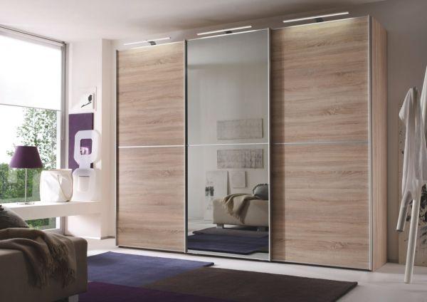 Handige kleerkast met een grote spiegel slaapkamer kleerkast
