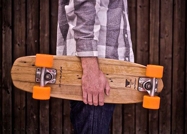 Retro Skateboards Made From Recycled Wood Sustainable Wood Recycled Wood Skateboards