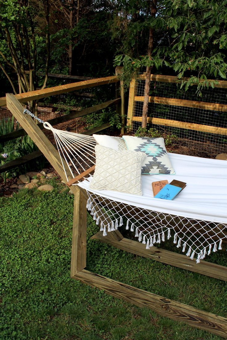 Home decorating diy projects learn how to make this wood hammock