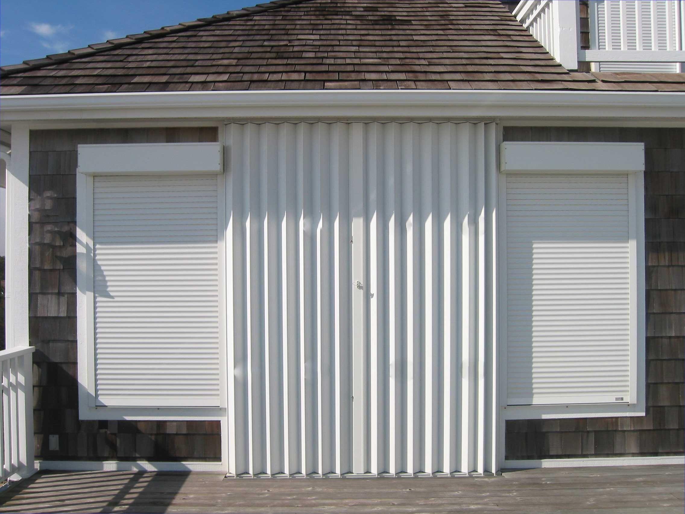 Roll Down Hurricane Shutters In Brevard County Florida Hurricane Shutters House Exterior Roll Down Hurricane Shutters