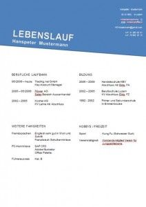 lebenslauf vorlage - Lebenslauf Schweiz