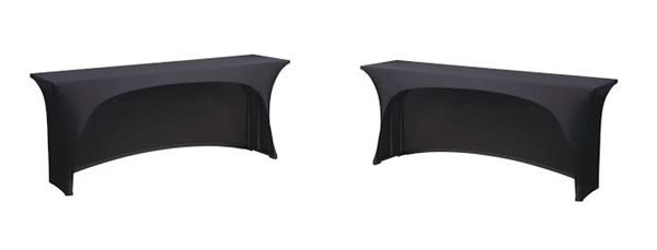 3 Sided Open Back Ed Cover In Spandex Premier Table Linens