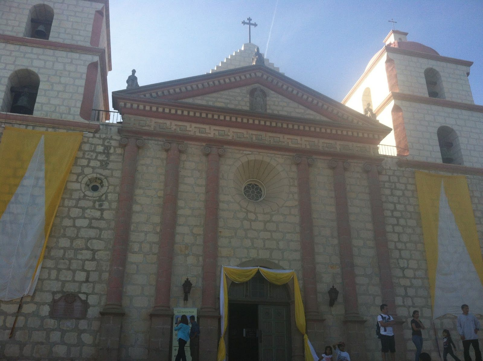 The Santa Barbara Mission. Travel to see The Queen of the California Missions