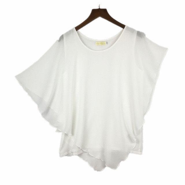 plus size S - 4XL 5XL 6XL Summer Women Chiffon Blouses Bat Sleeve chiffon shirts blousas shirts,18 color vestidos casual shirts