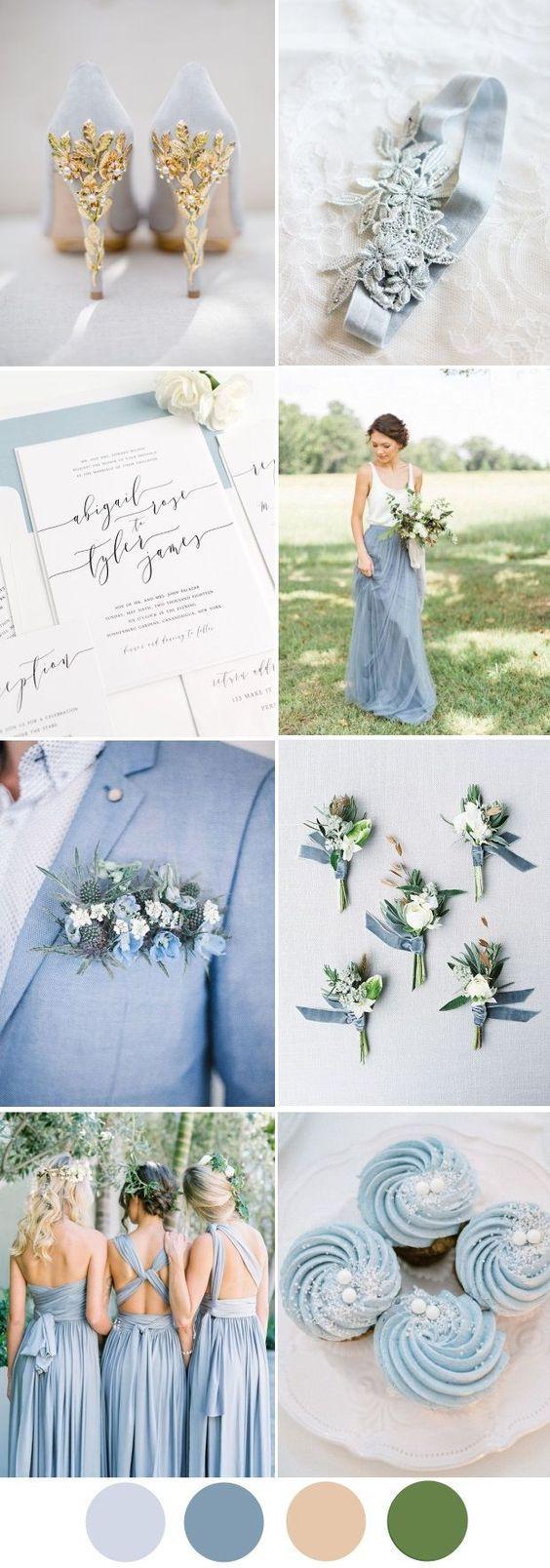 Dreamy Dusty Blue Winter Wedding Inspiration | Pinterest | Dusty ...